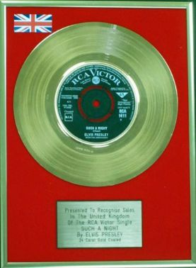 "Elvis Presley -  24 Carat Gold Disc 7"" - Such A Night"